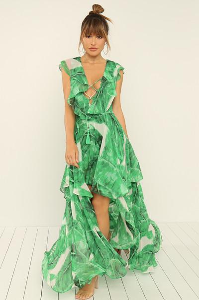 Open To It Dress - Green