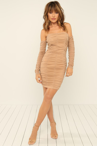 VIP View Dress - Nude