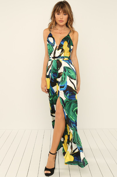 Split Personality Jumpsuit - Canary