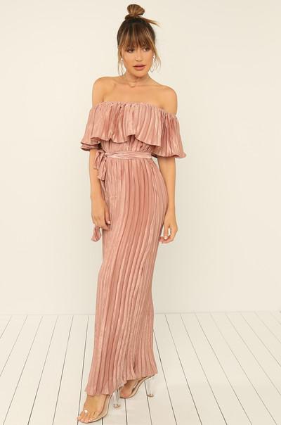 In The Fold Dress - Mauve