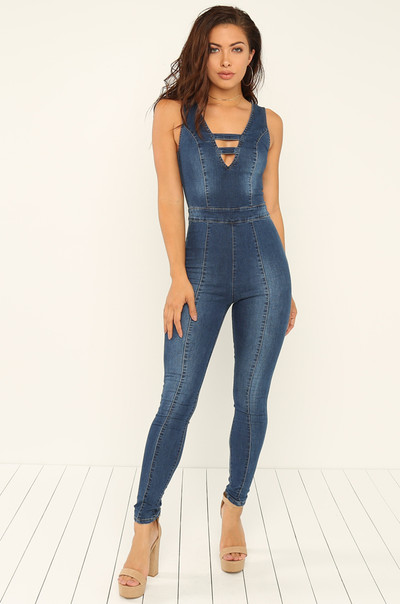 Curve Appeal Jumpsuit - Denim
