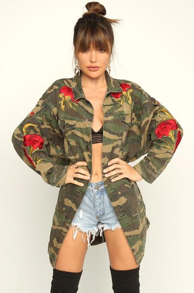Tough Romance Jacket - Camouflage