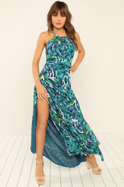 Head Turner Dress - Blue