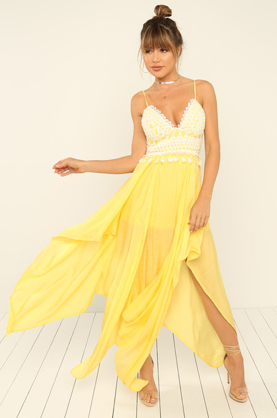 High Volume Dress - Canary