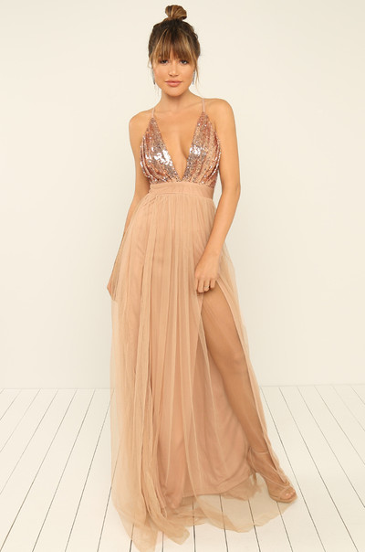 Night To Remember Dress - Rose Gold