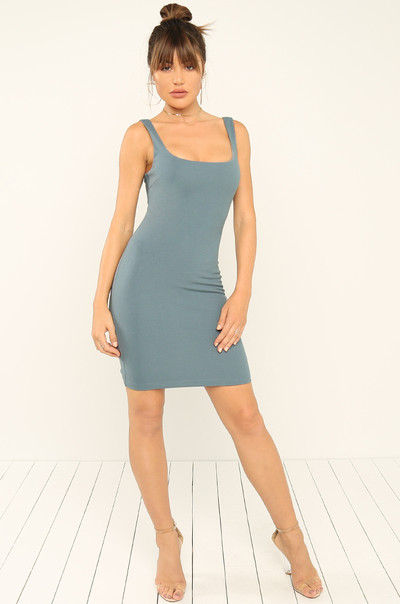 Feel Me Out Dress - Blue