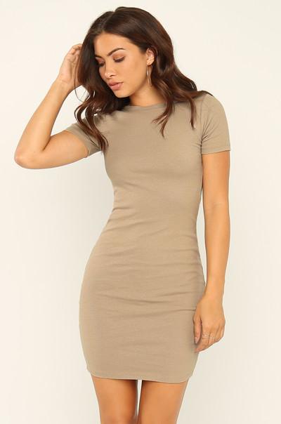 Basic Needs Dress - Nude