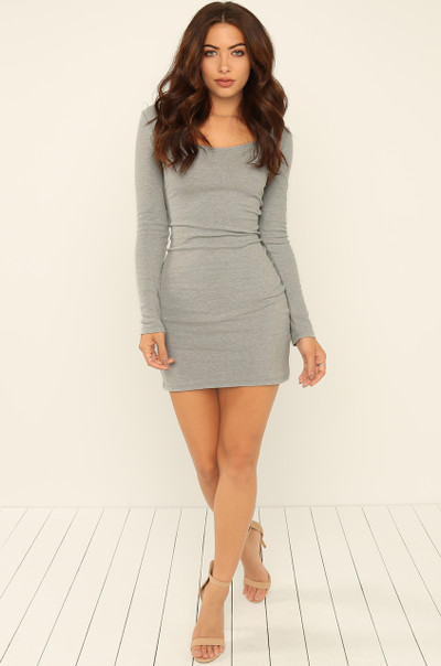 Take A Spin Dress - Light Grey