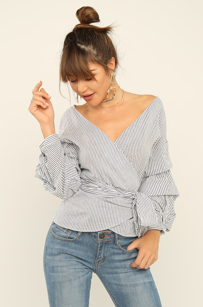 Along The Lines Top - Black