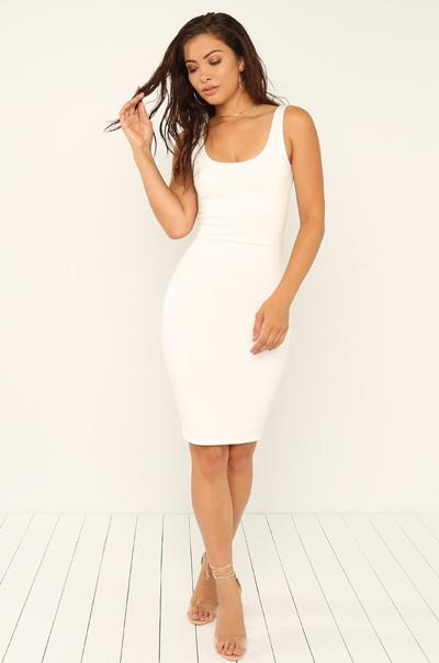 Skip The Line Dress - White