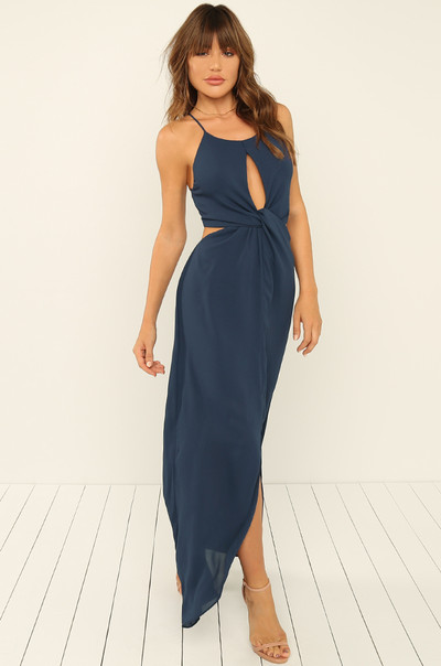 Lead You On Dress - Navy