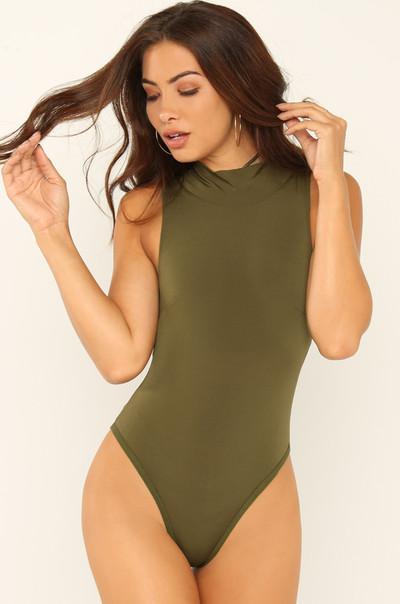 Up High Bodysuit - Olive