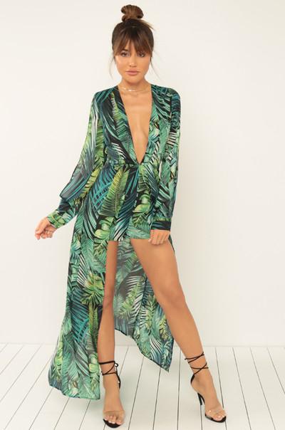 Exotic Looks Romper - Green