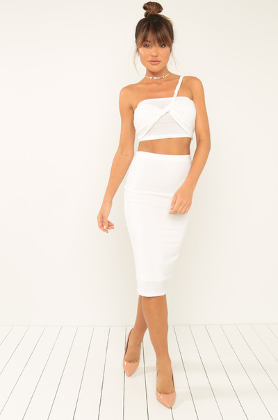 All Angles Co-Ord Set - White