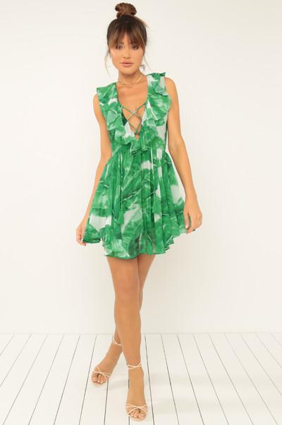 Tropical Breeze Dress - Green
