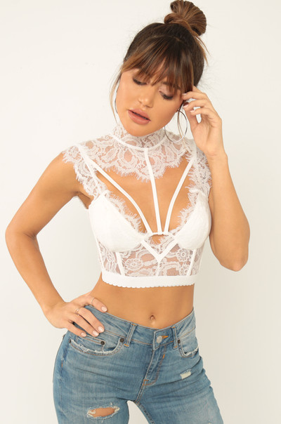 Only Love Bralette - White