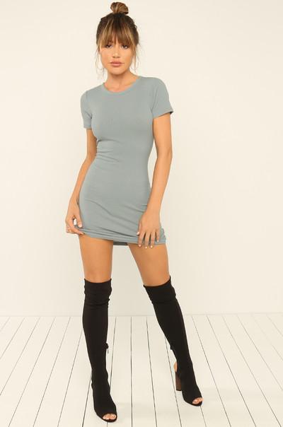 Basic Needs Dress - Grey