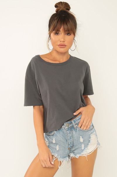 Basic-ally Yours Tee - Grey
