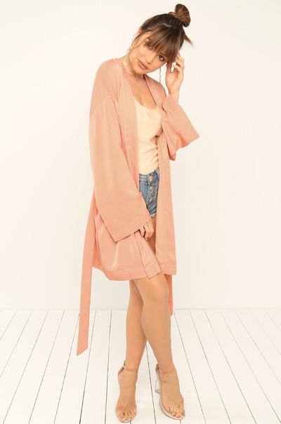 Fresh Take Kimono - Blush