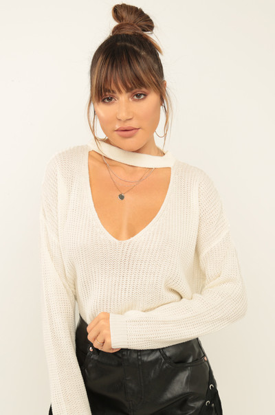 Going Bare Sweater - Ivory