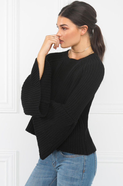 Without A Stitch Sweater - Black