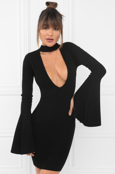Cut To The Chase Dress - Black