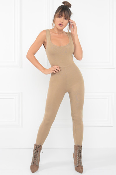 Watch Me Move Jumpsuit - Nude