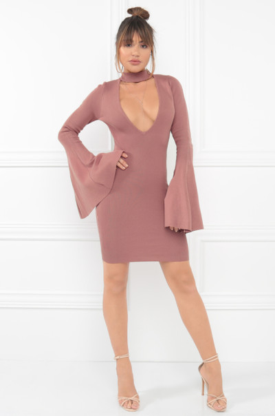 Cut To The Chase Dress - Mauve