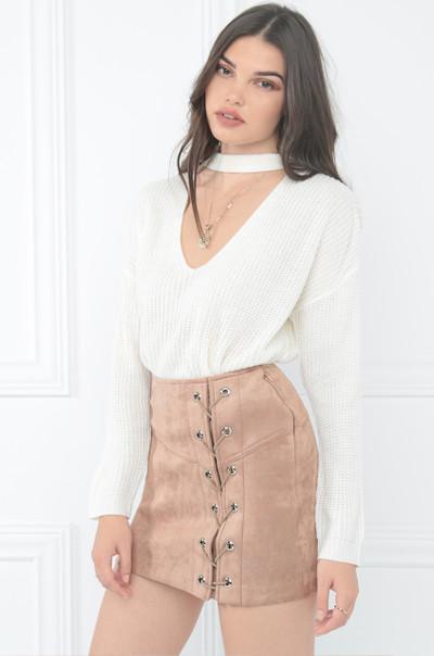 Bind & Persuade Skirt - Mauve