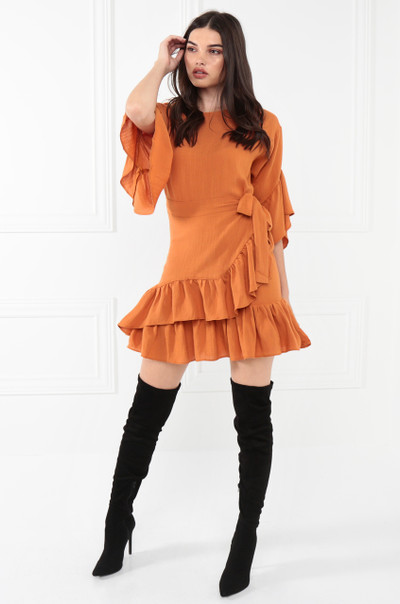 Wild Poppy Dress - Rust