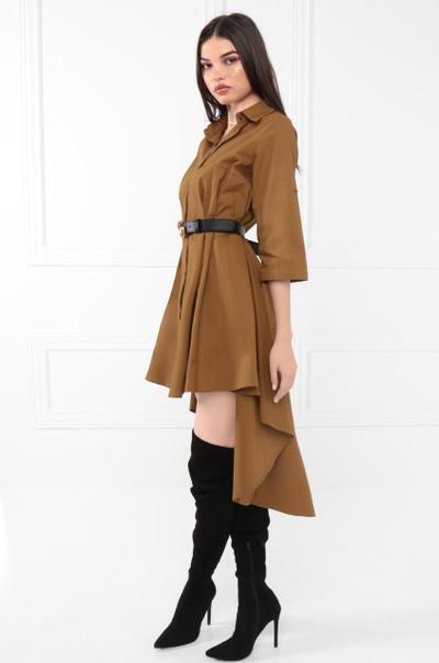 Beauty In Command Dress - Rust