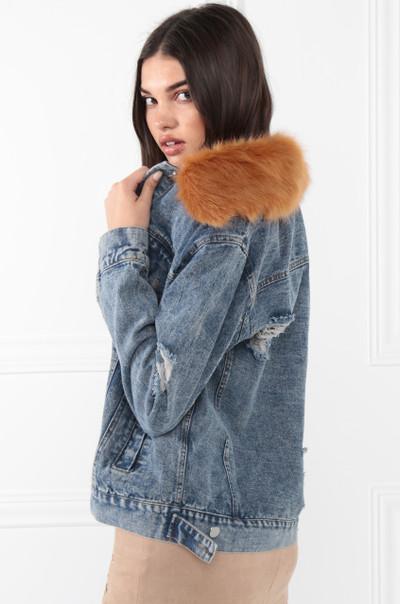 Keepin' It Furry Jacket - Denim