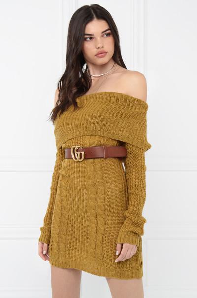 Gettin' Warmed Up Dress - Mustard
