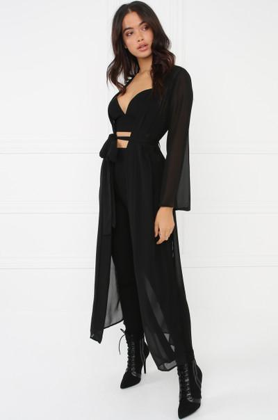 Sheer Bliss Kimono - Black
