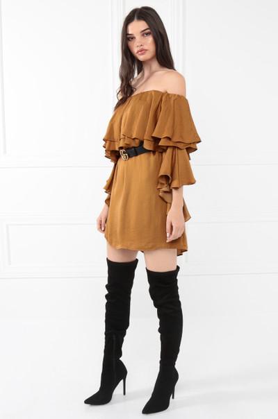 Life Is Beautiful Dress - Rust
