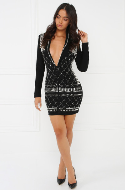 High Class Affair Dress - Black