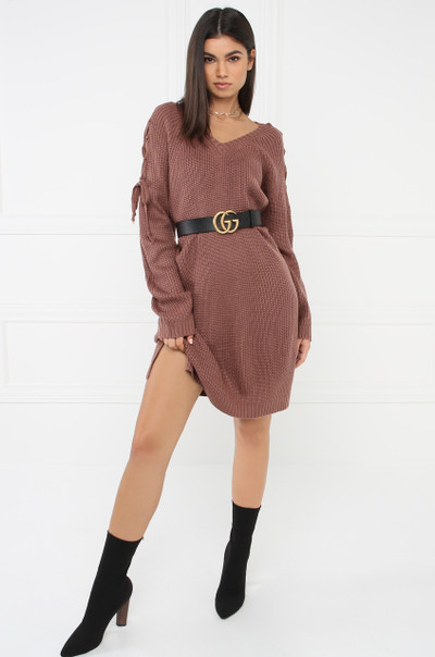Unspun Sweater Dress - Mauve