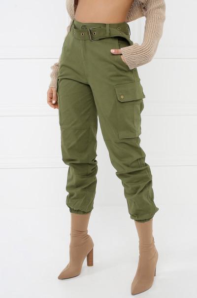Style & Go Cargo Jogger Pants - Olive