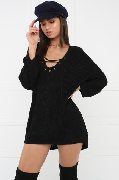 For The Cozy Sweater - Black