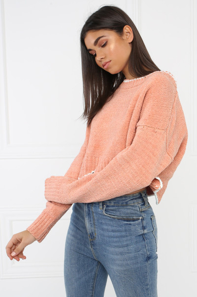 Scallop Crop Top - Blush