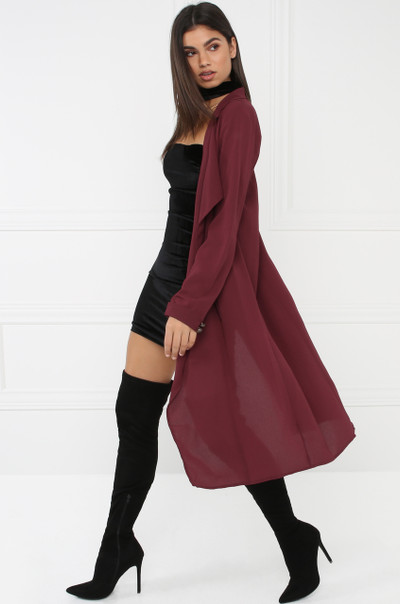 Fall Fever Cardigan - Wine