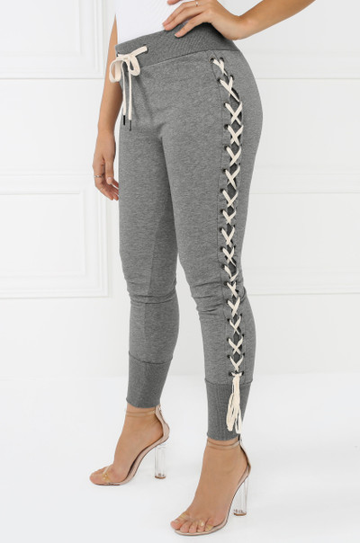 Straight-Laced Sweat Pants - Grey