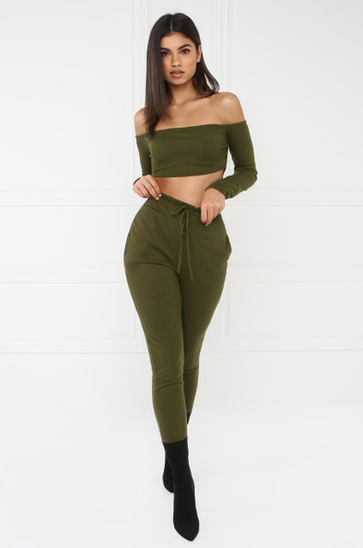 Hot Damn Co-Ord Set - Olive