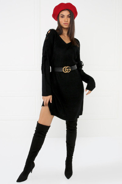 Unspun Sweater Dress - Black