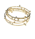 Designer jewelry Gemstone Bangle Bracelet, solid 14k gold, 18k gold signature detail