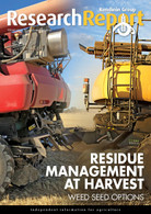 Research Report 97: Residue management at harvest