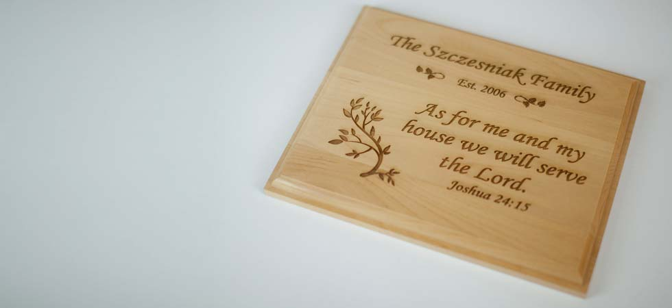 custom wood personalized gifts custom wood engraved plaques northwest gifts