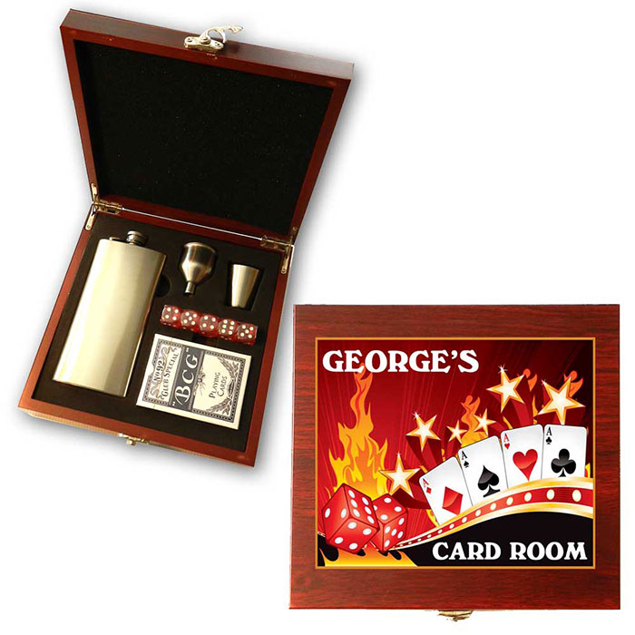 Personalized poker gifts him free movie tune
