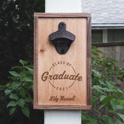 Custom Wall Mounted Bottle Opener Graduation Gift