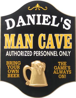 Man Cave Plaque Personalized